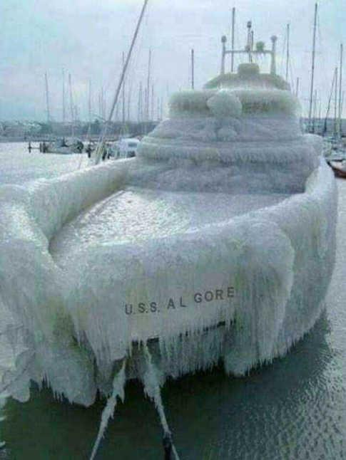 uss al gore shipped frozen in ice