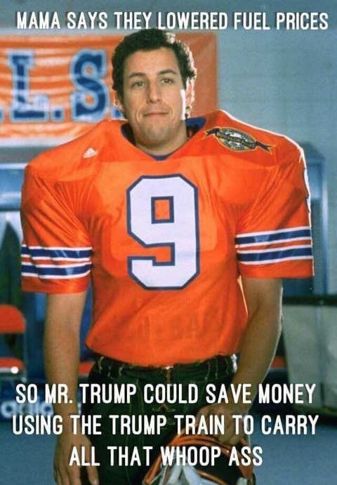 water boy adam sandler trump train save money to whoop ass