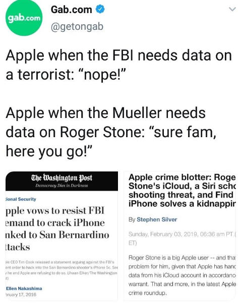 apple wont unlock phone for terrorist but roger stone no problem