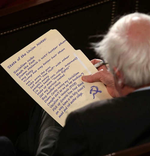 bernie sanders state of union notes