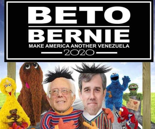 beto orourke bernie sanders sesame street make america another venezuela 2020
