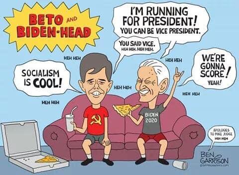 beto orourke joe biden beavis and butthead socialism is cool