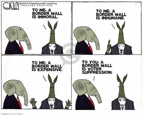 border wall is immoral democrats wall is voter suppression