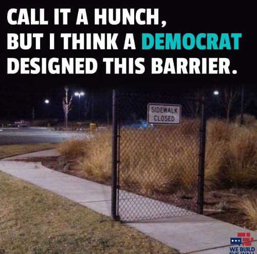 call it a hunch but think democrat designed this barrier on sidewalk
