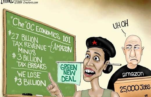 che ocasio cortez economics tax revenues plus tax breaks equals 2 billion lost