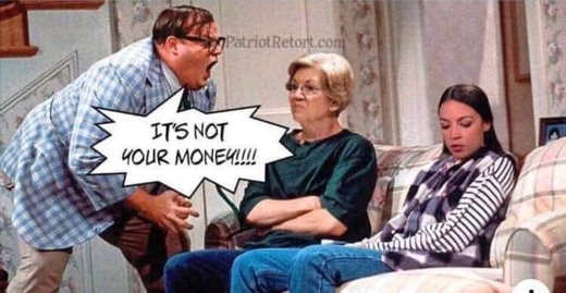 elizabeth warren ocasio cortez its not your money chris farley