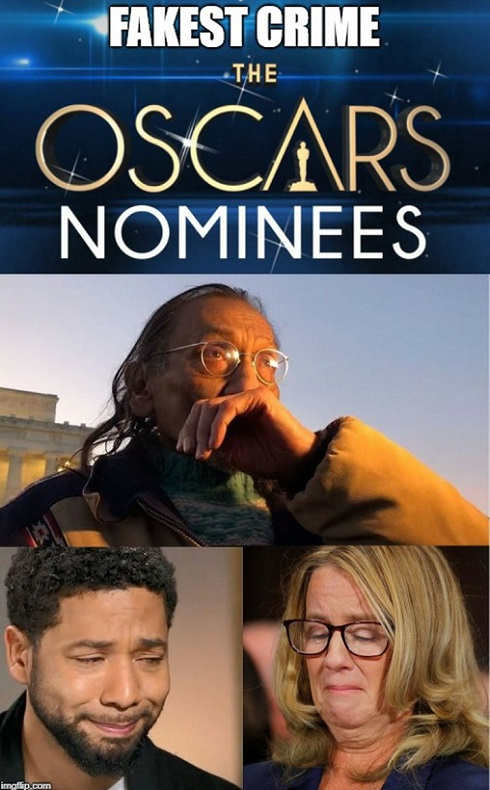 fakest crimes the oscar nominees nathan phillips jussie smollett christine blasey ford