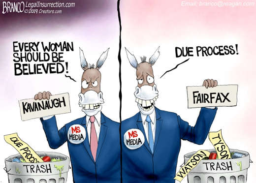 mainstream media believe women kavanaugh due process for fairfax