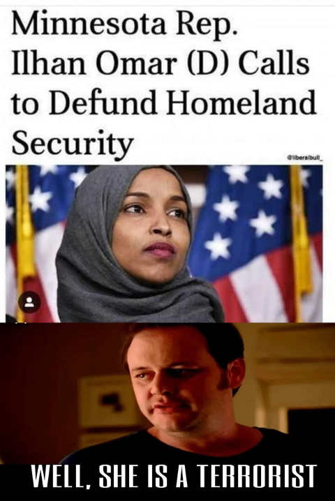minnesota democrat omar calls to defund homeland security shes a terrorist state farm