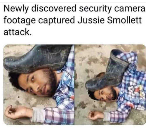 newly discovered jussie smollett security footage boot