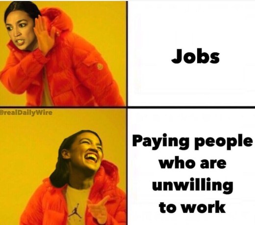 ocasio cortez jobs no paying people unwilling to work yes