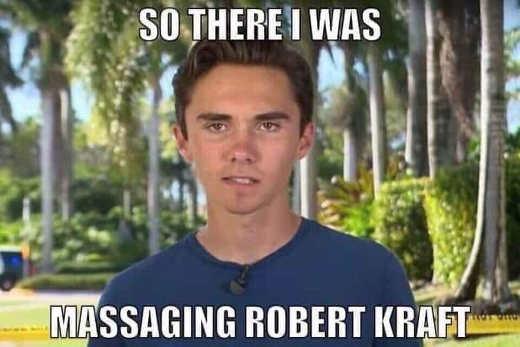 so there i was massaging robert kraft david hogg