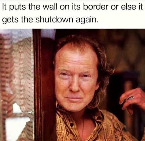 trump buffalo bill it puts the wall on the border or gets the shutdown again
