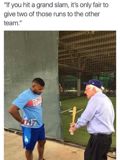 bernie if you hit grand slam should give other team 2 of runs