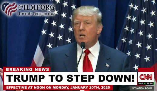 breaking news trump stepping down in january 2025