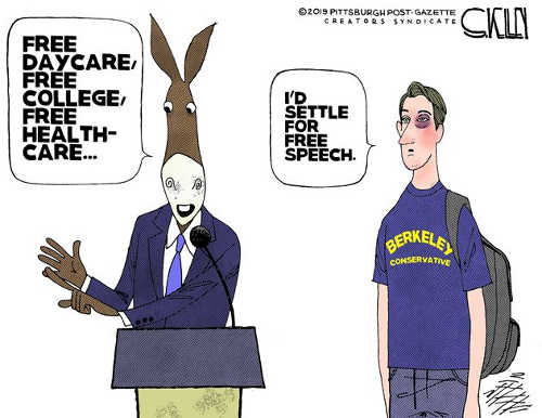 democrats free daycare college health care republican settle for free speech