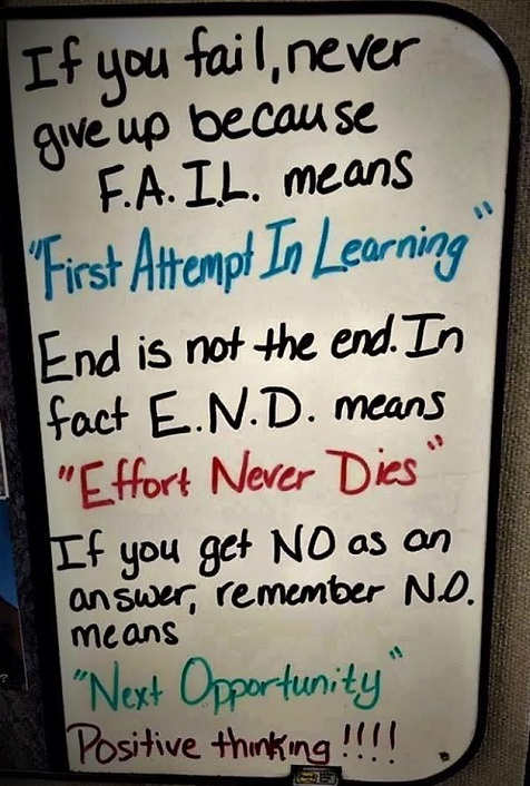 fail first attempt in learning end effort never dies no next opportunity