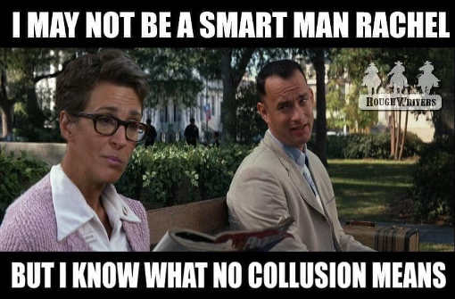 forrest gump not smart man rachel maddow know what collusion is