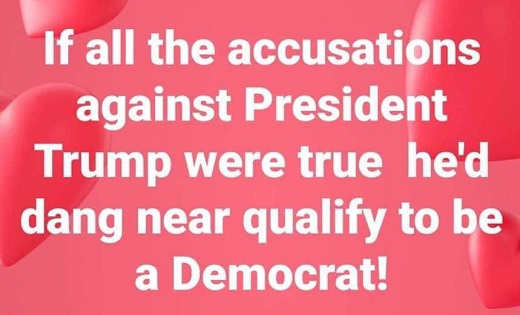 if all accusations against trump were trump hed qualify to be democrat