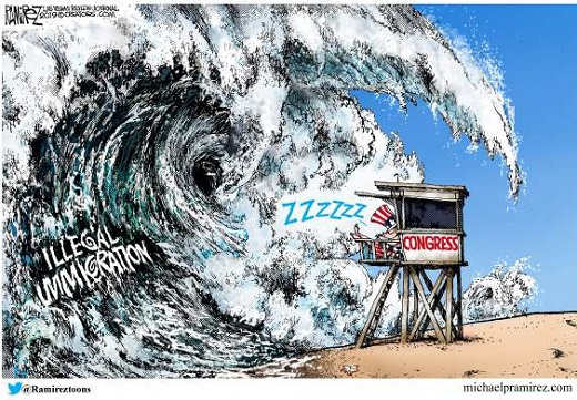 illegal immigration wave congress sleeping