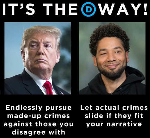its the democrat way endlessly pursue fake crimes if disagree let actual crimes slide if fit narrative