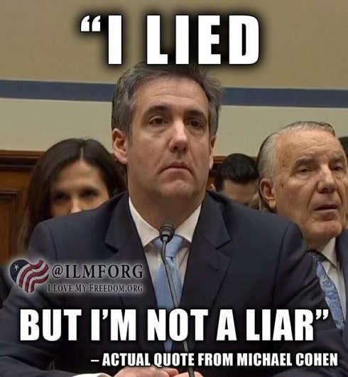 michael cohen i lied but im not a liar