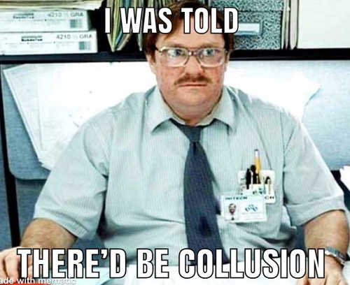 milton office space i was told thered be collusion with russia