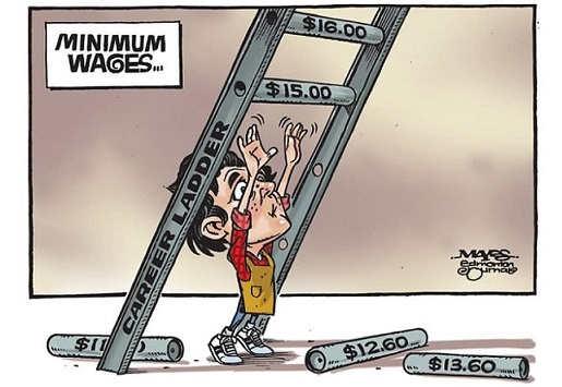minimum wages career ladder cant reach rung