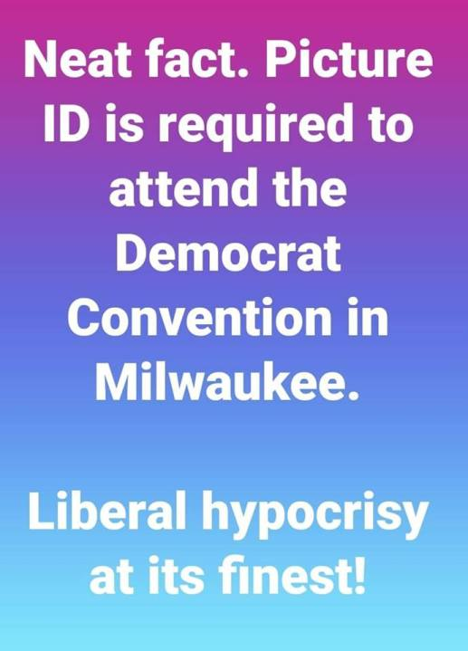 neat fact picture id is required to attend democrat convention in milwaukee