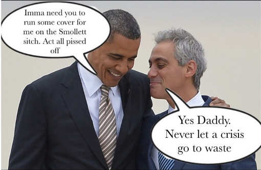 obama need you to act outraged smollett rahm emanuel yes daddy