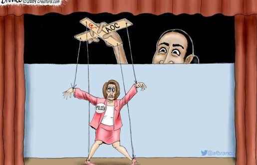 ocasio cortez puppet master of nancy pelosi