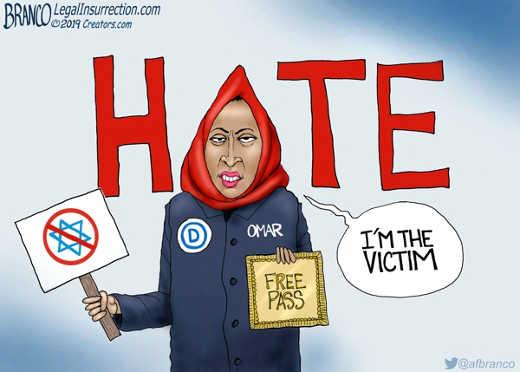 omar free pass to hate im the victim