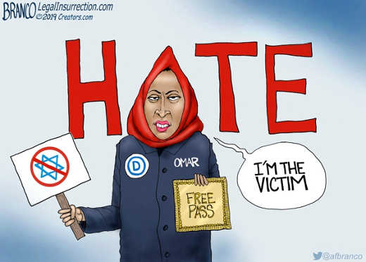 omar free pass to hate im the victim