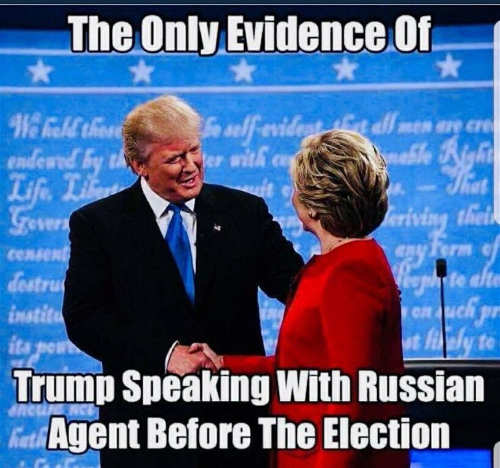 only evidence of trump speaking with russian agent hillary clinton