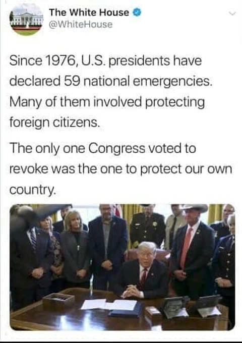 since 1976 us presidents declared 59 national emergencies only when protecting us did congress reject