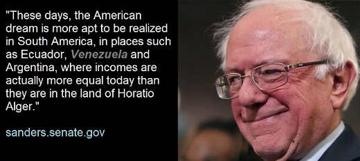 these days more likely to realize american dream venezuela bernie sanders