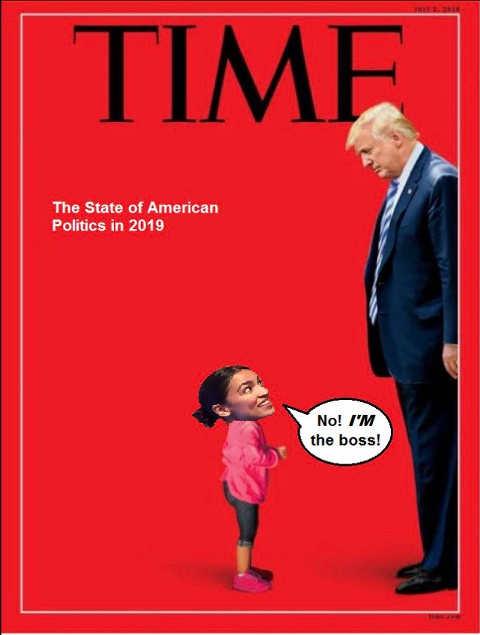 time magazine ocasio cortez im the boss over trump