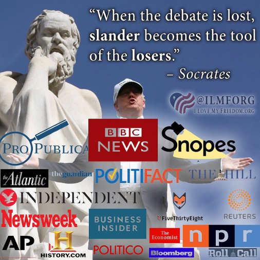 when debate is lost slander becomes tool of losers socrates mainstream media