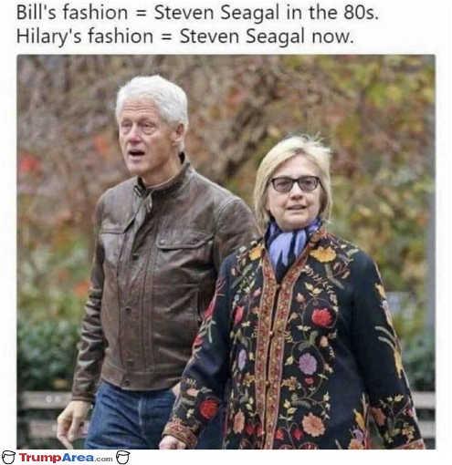 bill clinton fashion steven seagal 80s hillary seagal now