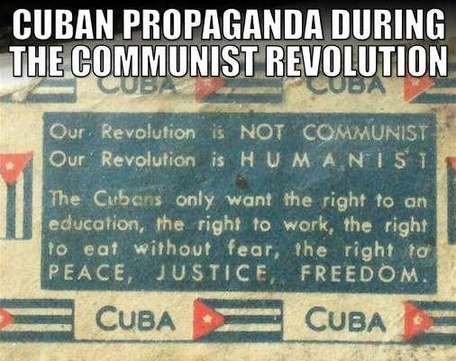 cuban propaganda free health care right to work not communist