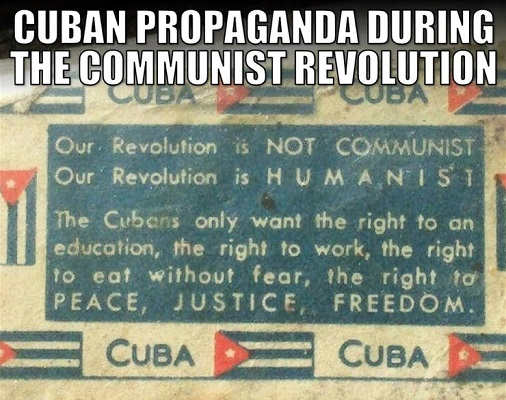 cuban propaganda free health care right to work not communist