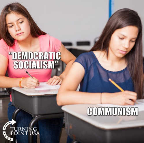 democratic socialism copying from communism test