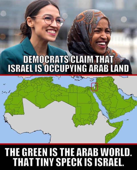 democrats claim israel occupying arab land little speck on map is israel