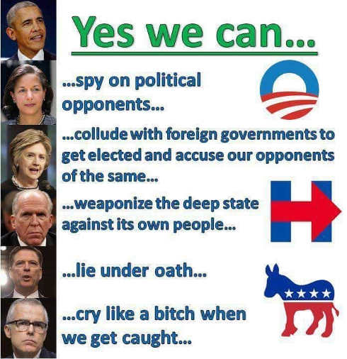 democrats yes we can spy on opponents weaponize deep state lie under oath