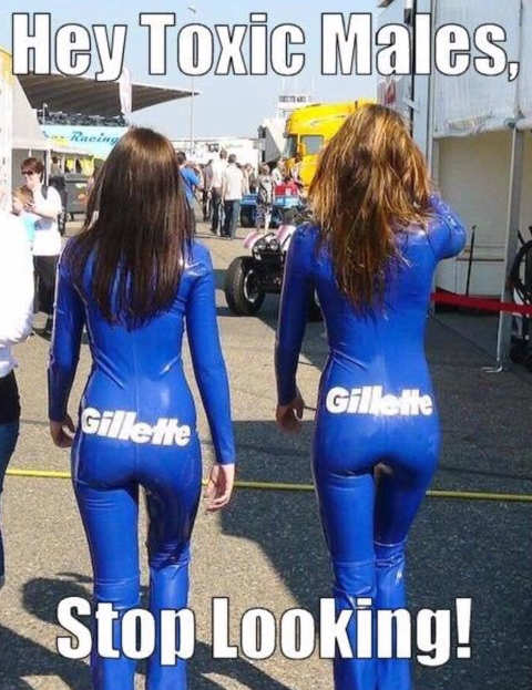 gillette hot girls hey toxic males stop looking