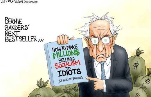 how to make millions selling socialism to idiots bernie sanders