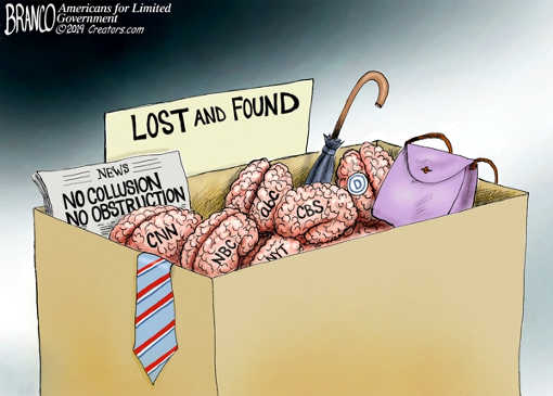 lost and found brains abc cbs cnn msnbc nyt no collusion no obstruction