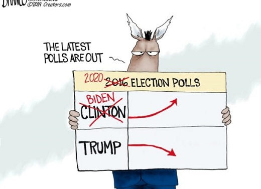 media polls clinton up trump down crossout biden up