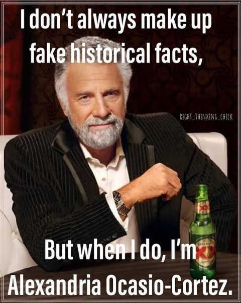 ocasio cortez make up historical facts xx