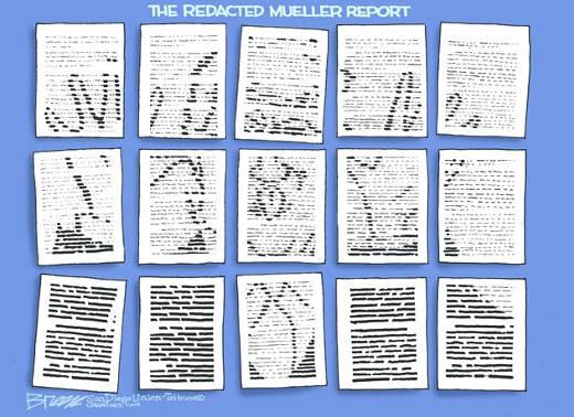 redacted mueller report trump